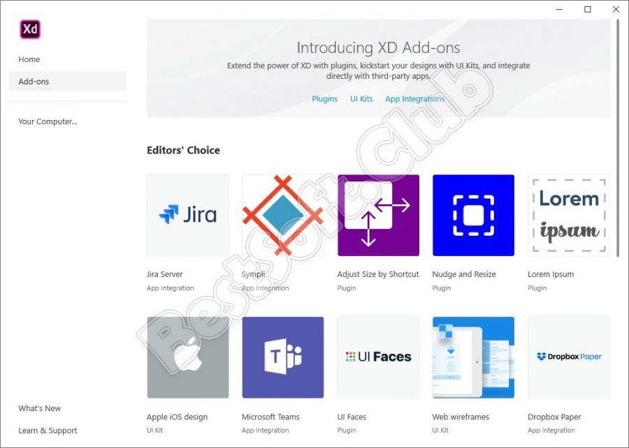 Плагины в Adobe XD CC