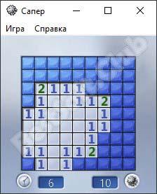 Стандартная игра Сапер от Windows 7