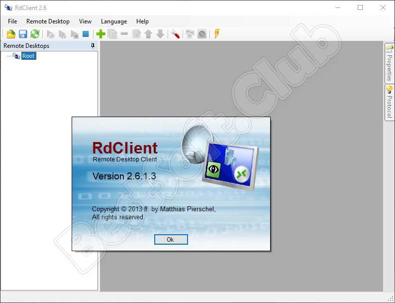 О программе RD Client