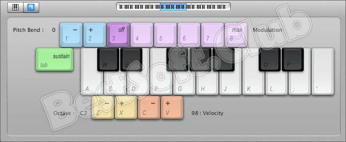 Клавиатура в Logic Pro X