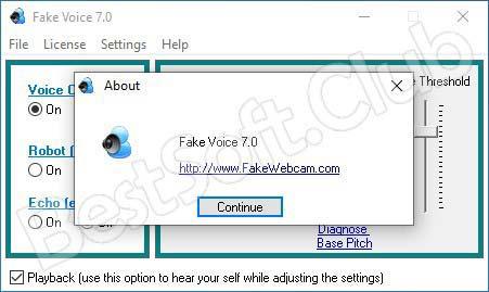 Работа с Fake Voice