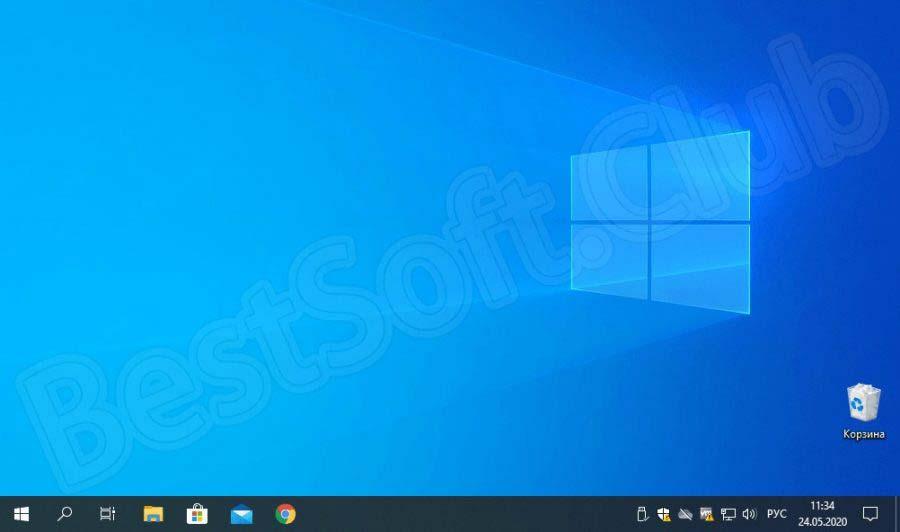 Интерфейс Windows 10 для майнинга