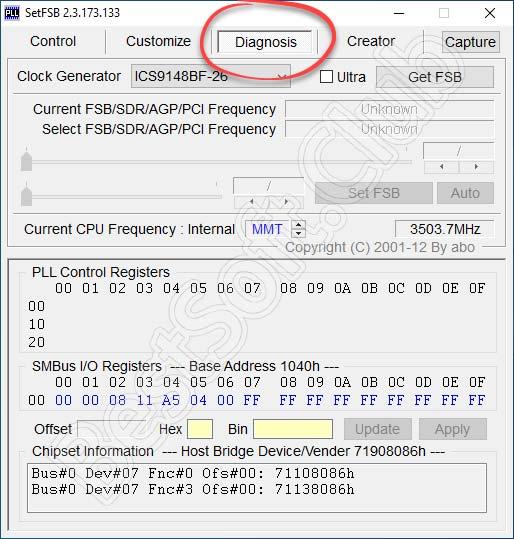 Диагностика-SetFSB