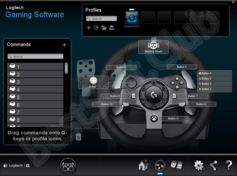 Программный интерфейс драйвера для Logitech MOMO Racing