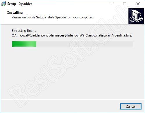 Ход установки Xpadder