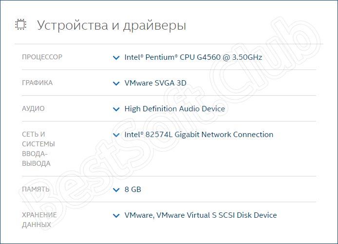 Использование Intel Driver