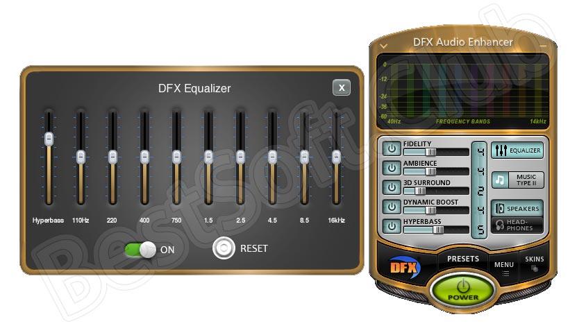 Эквалайзер DFX Audio Enhancer