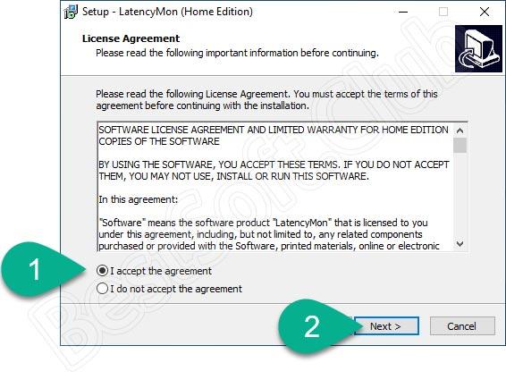 Лицензия приложения LatencyMon