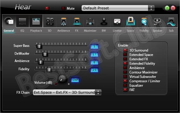 Программный интерфейс Hear