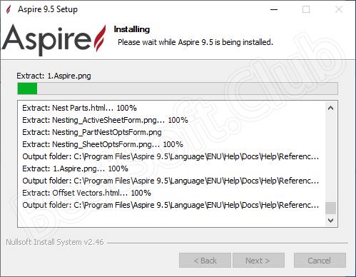 Установка программы Vectric Aspire