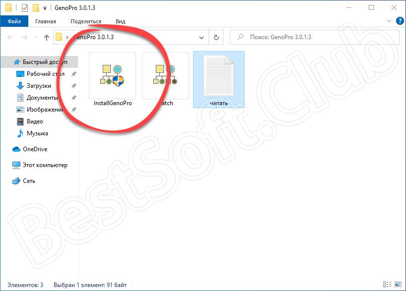 Запуск установки программы GenoPro