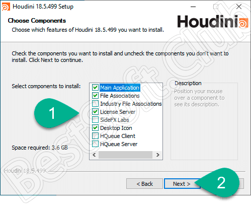 Настройка установки SideFX Houdini FX