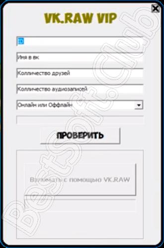Программный интерфейс VK RAW