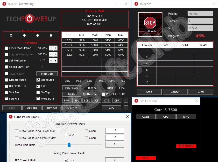 Работа с ThrottleStop