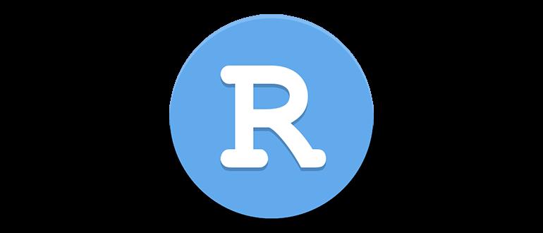 Иконка R studio