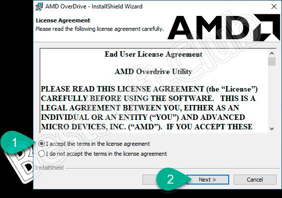 Лицензионное соглашение AMD OverDrive