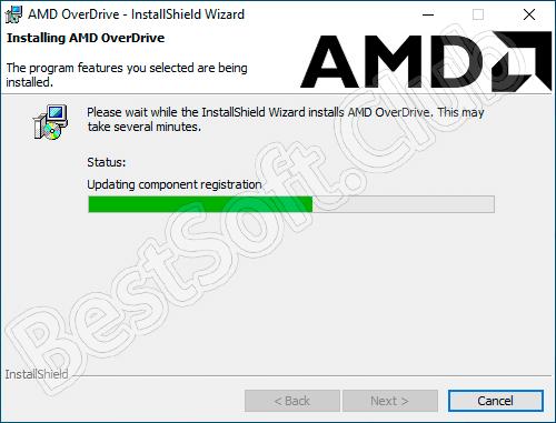 Процесс инсталляции AMD OverDrive