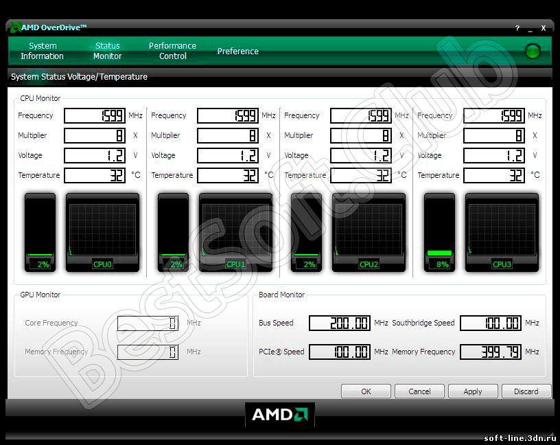 Работа с AMD OverDrive