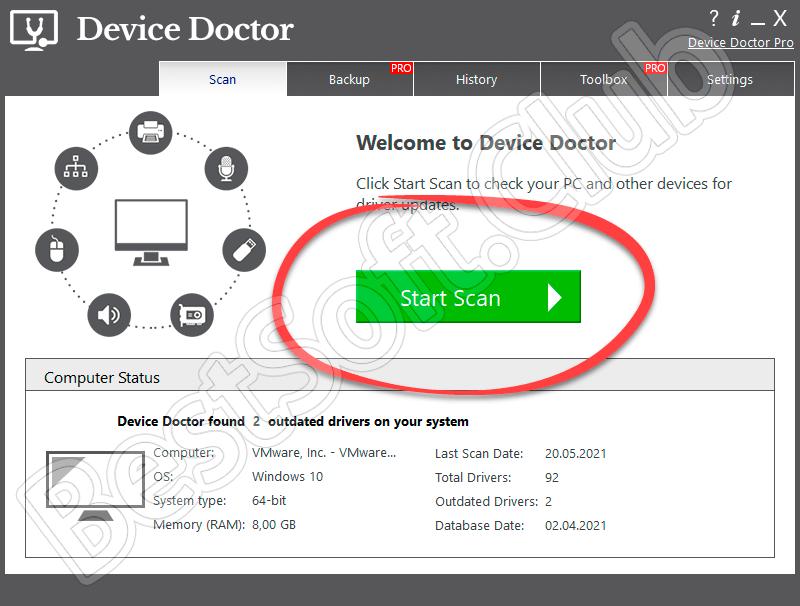 Работа с Device Doctor