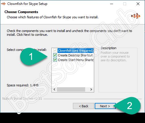 Настройка установки Clownfish for Skype
