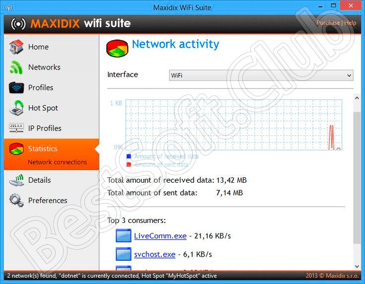 Программный интерфейс Maxidix Wifi Suite