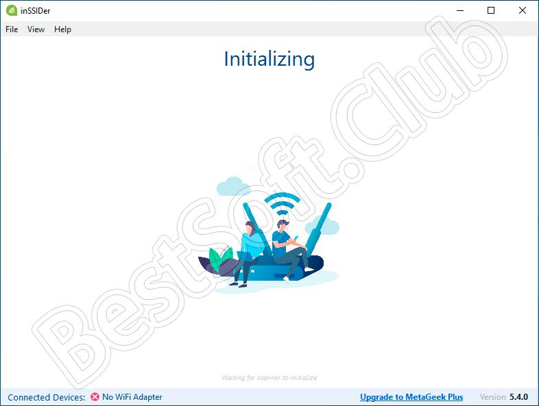 Работа с InSSIDer