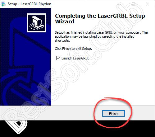 Установка LaserGRBL завершена