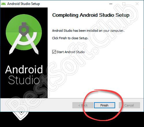 Завершение инсталляции Android SDK
