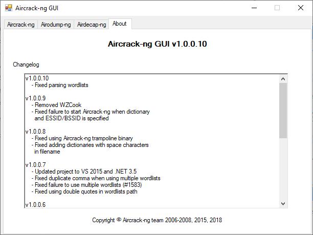 О программе Aircrack-ng