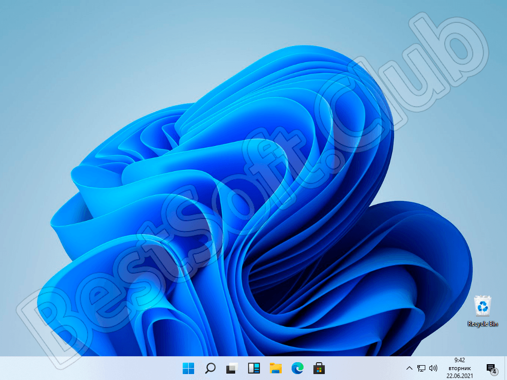 Рабочий стол Windows 11